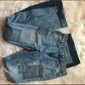 distressed bell bottom free people jeans
